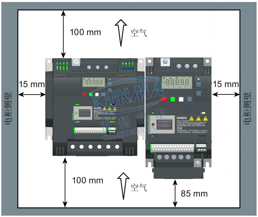 变频器安装方向及间距