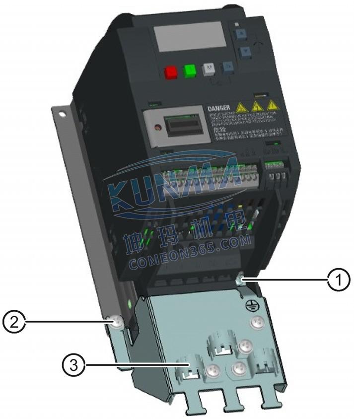 西门子变频器V20屏蔽连接件