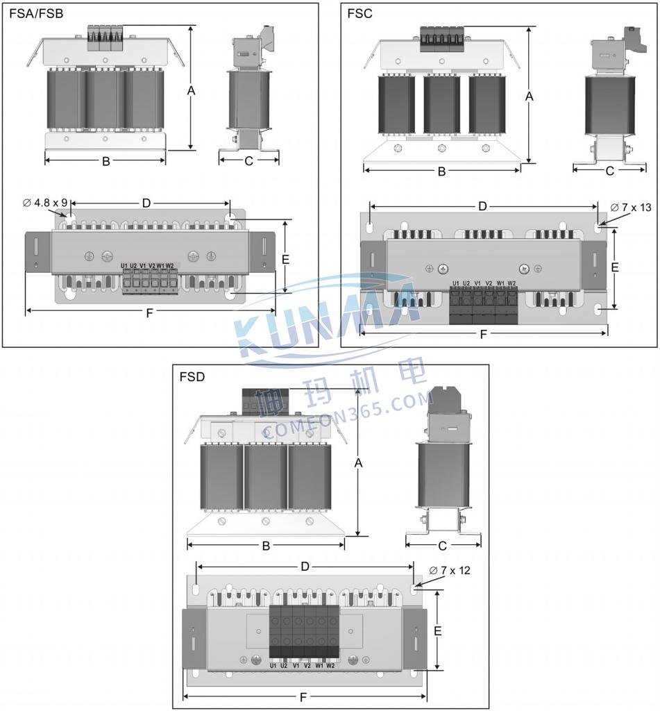 西门子变频器V20输出电抗器