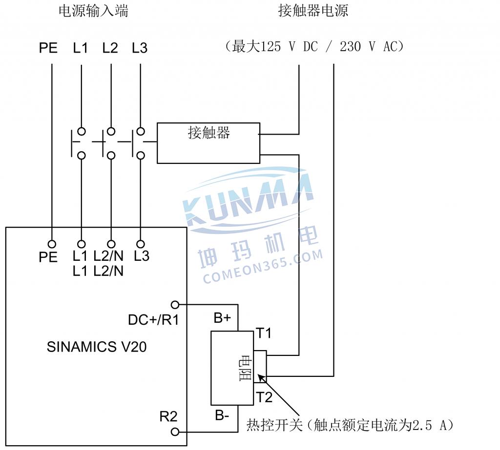 西门子变频器V20制动电阻