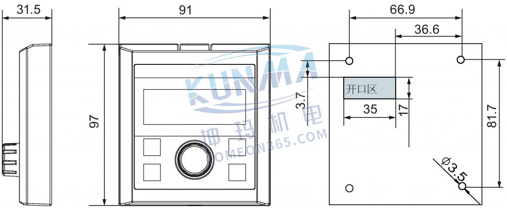 西门子变频器V20外接BOP与BOP接口模块