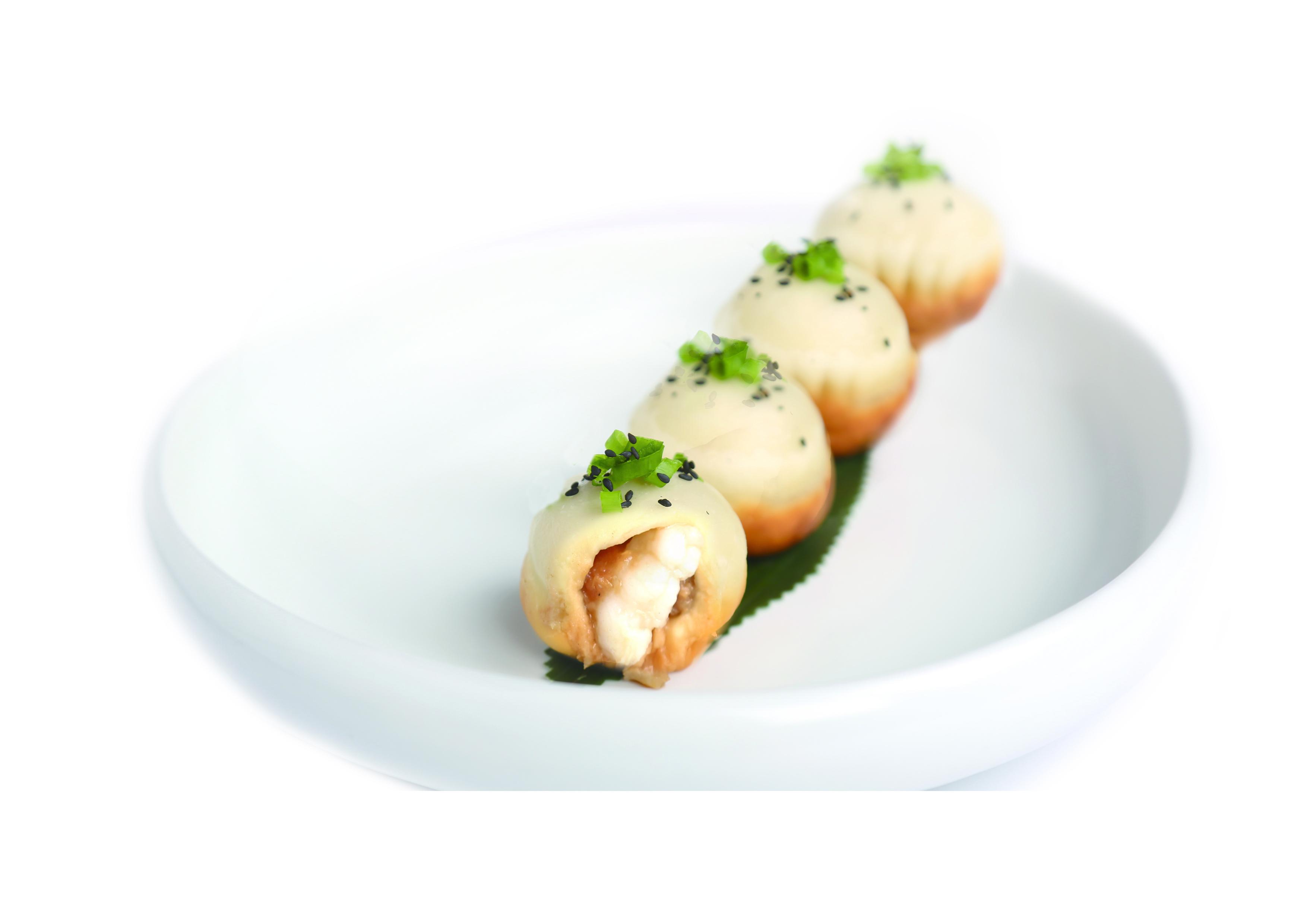 鲜虾生煎包