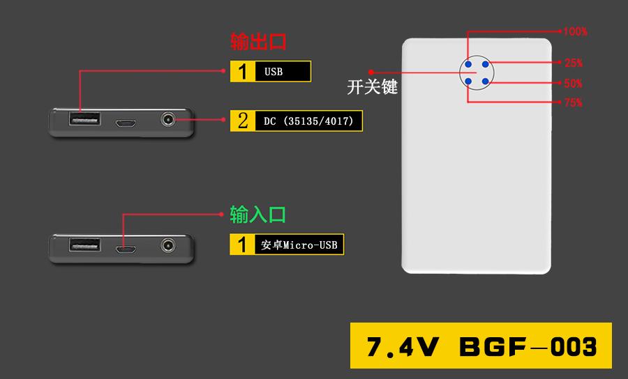BGF-0037.4V2200mAh