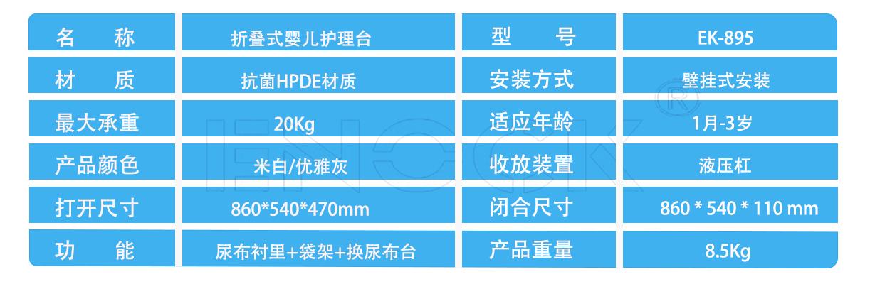 EK-895技术参数