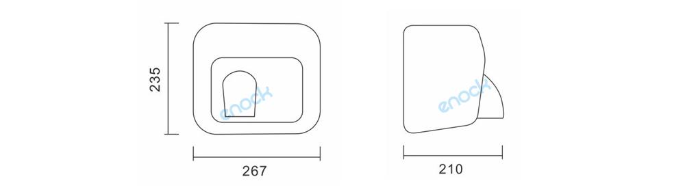 不锈钢烘手机厂家尺寸EK-6518