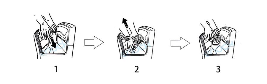 双面喷气式干手器使用方法
