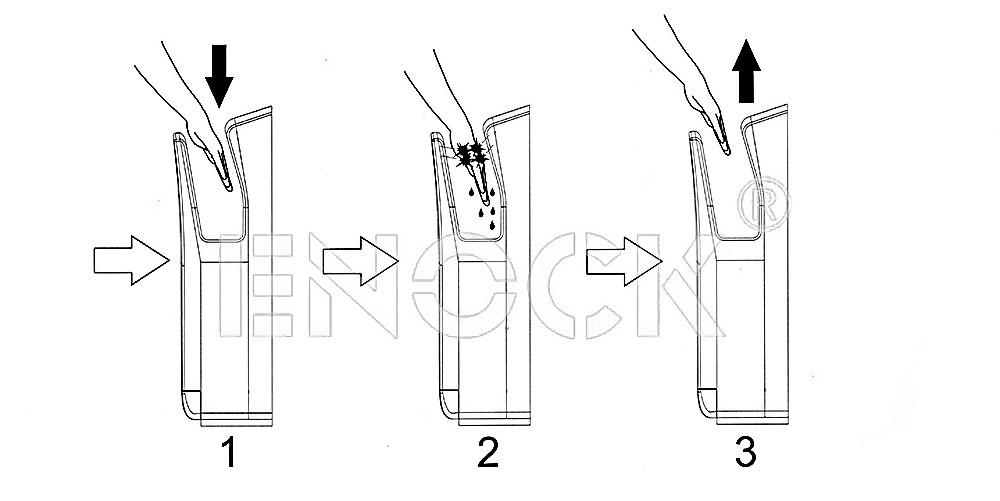 不锈钢双面喷射式烘手器使用方法