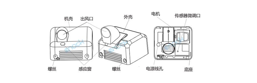 不锈钢烘手机部件组成