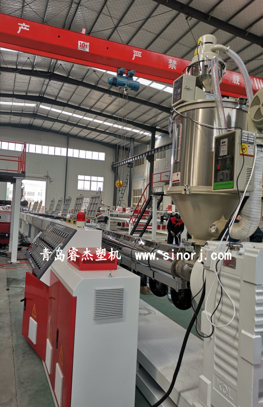 plastic square tube equipment, marine fishery board production