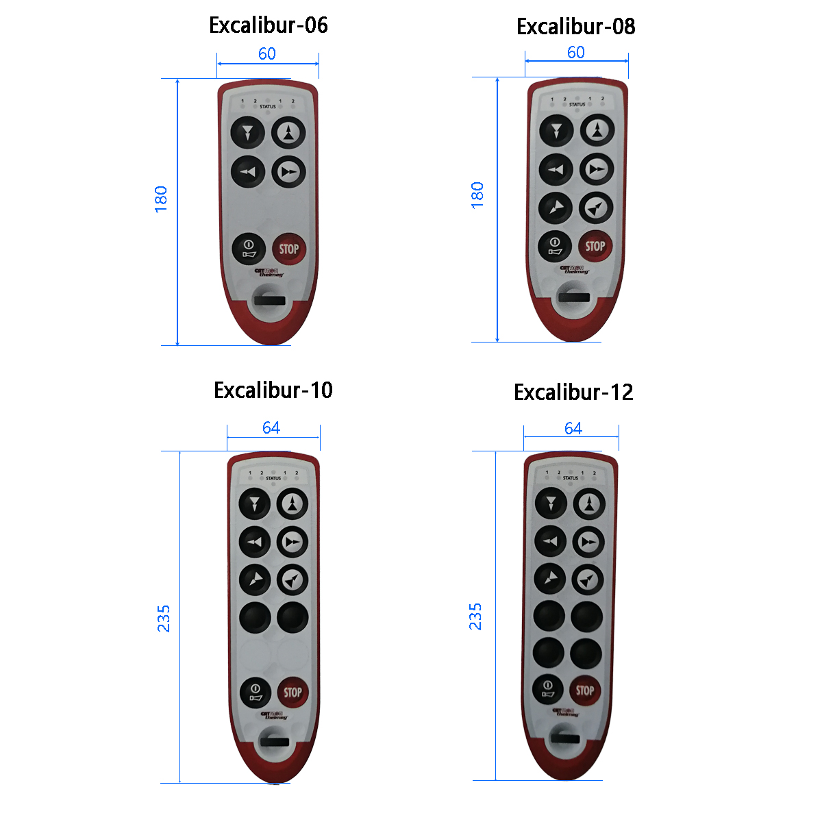 Excalibur产品外形尺寸