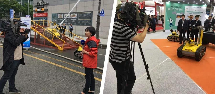 消防機器人場內外演示引得多家媒體專訪.webp