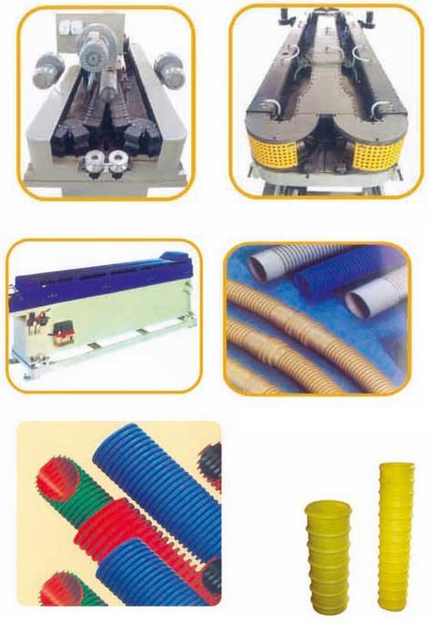 PEPPPVC塑料单壁波纹管生产线2