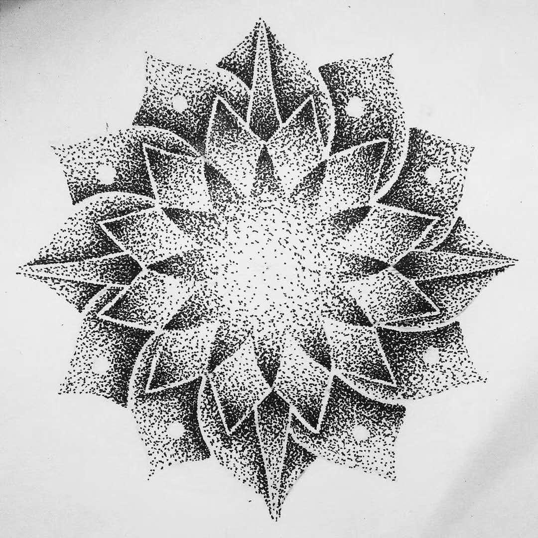 纹身图案-莲花