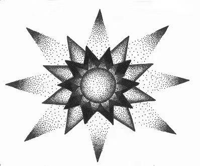 纹身图案-太阳花