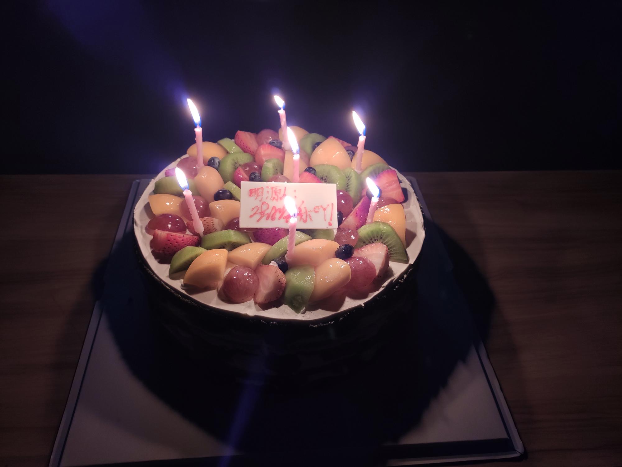 生日晚会蛋糕