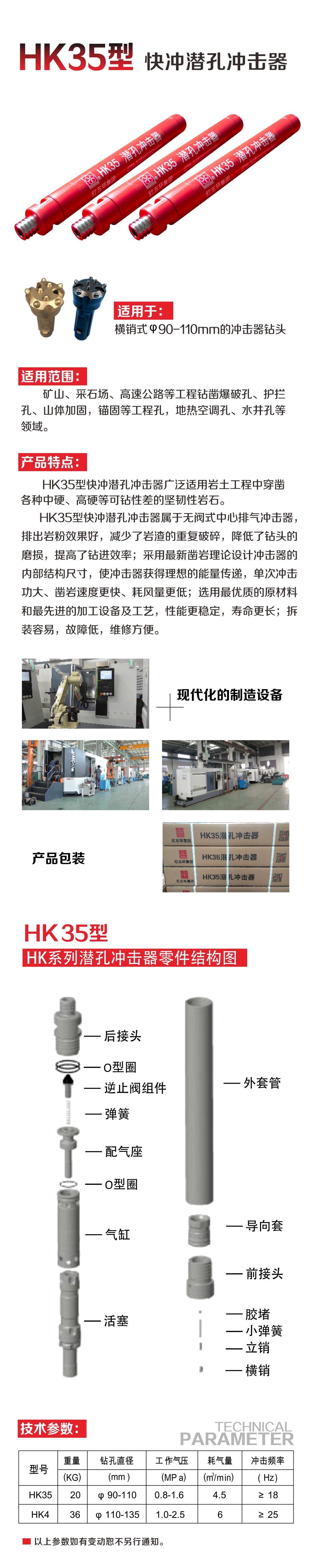 HK35潜孔冲击器