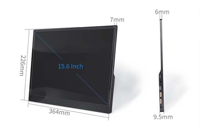 15.6英寸IPS超薄随身可携带的显示器