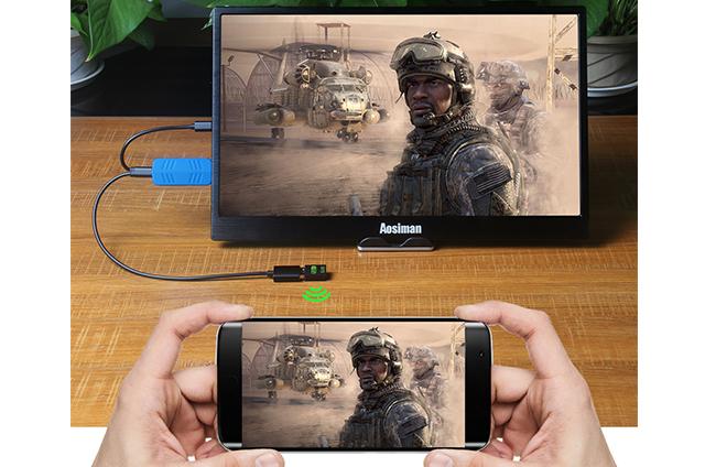 手机无线投屏便携显示器,激活手机更多功能!