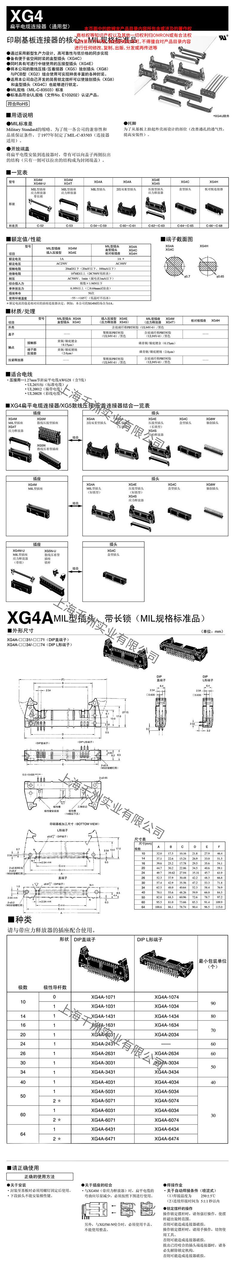 XG4A参数详情