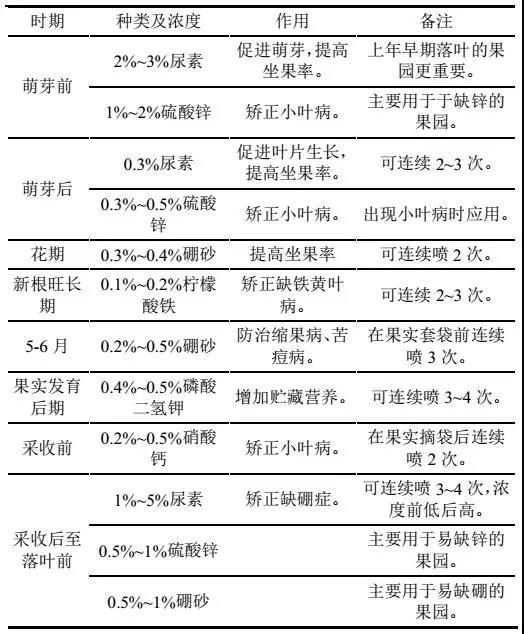 514蘋果跟外追肥種類濃度和作用