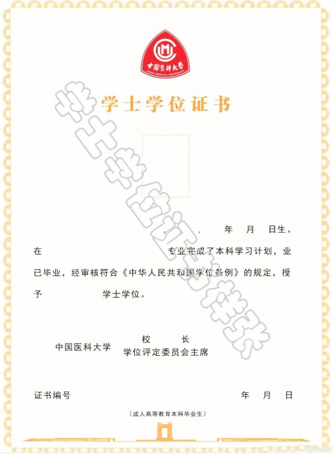 中国医科大学学位证