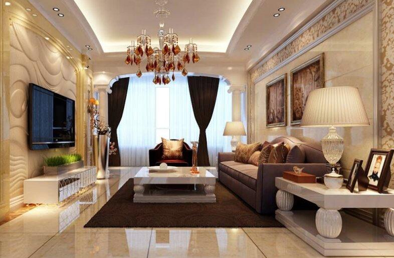 欧式装修客厅,欧式客厅装修如何装及注意事项?-1