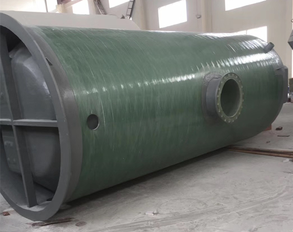 2.5x8米玻璃钢一体化预制泵站150M3/h污水提升设施项目案例