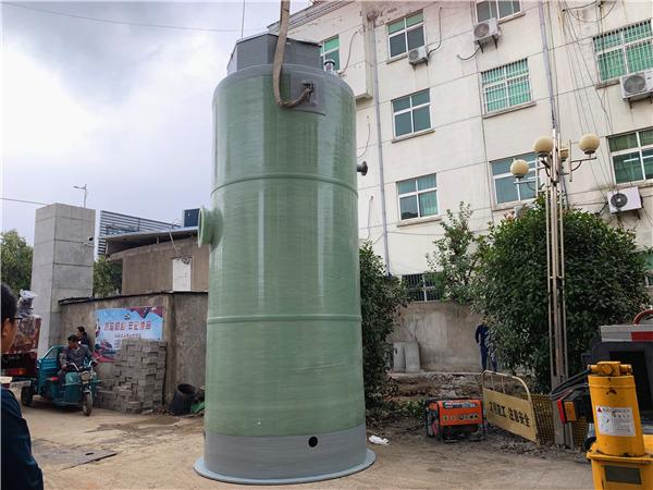 四川绵阳3000x6800mm市政污水提升设施玻璃钢一体化泵站案例