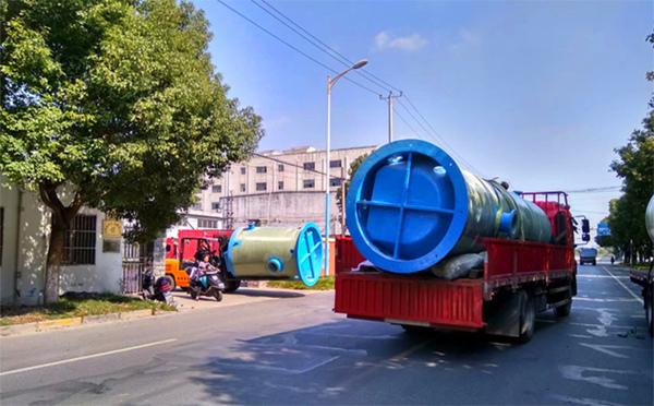 一体化污水提升泵站_一体化预制泵站_一体化泵站厂家-盐城一体化污水泵站项目