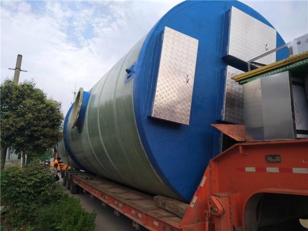 江苏常熟玻璃钢一体化泵站项目案例