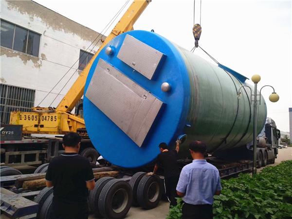 1000吨每天玻璃钢地埋式一体化污水提升泵站