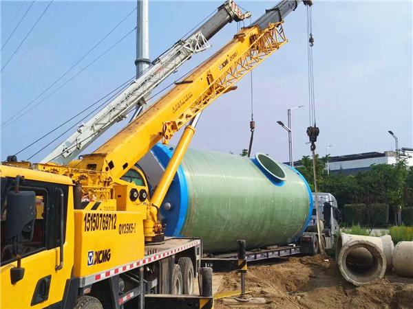 吉林日提升污水3600立方玻璃钢一体化提升泵站工程项目案例