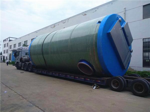 1000立方每天玻璃钢地埋式一体化污水提升泵站