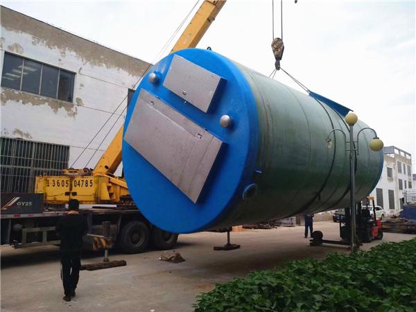 20000立方3800x9000玻璃钢一体化提升泵站项目案例