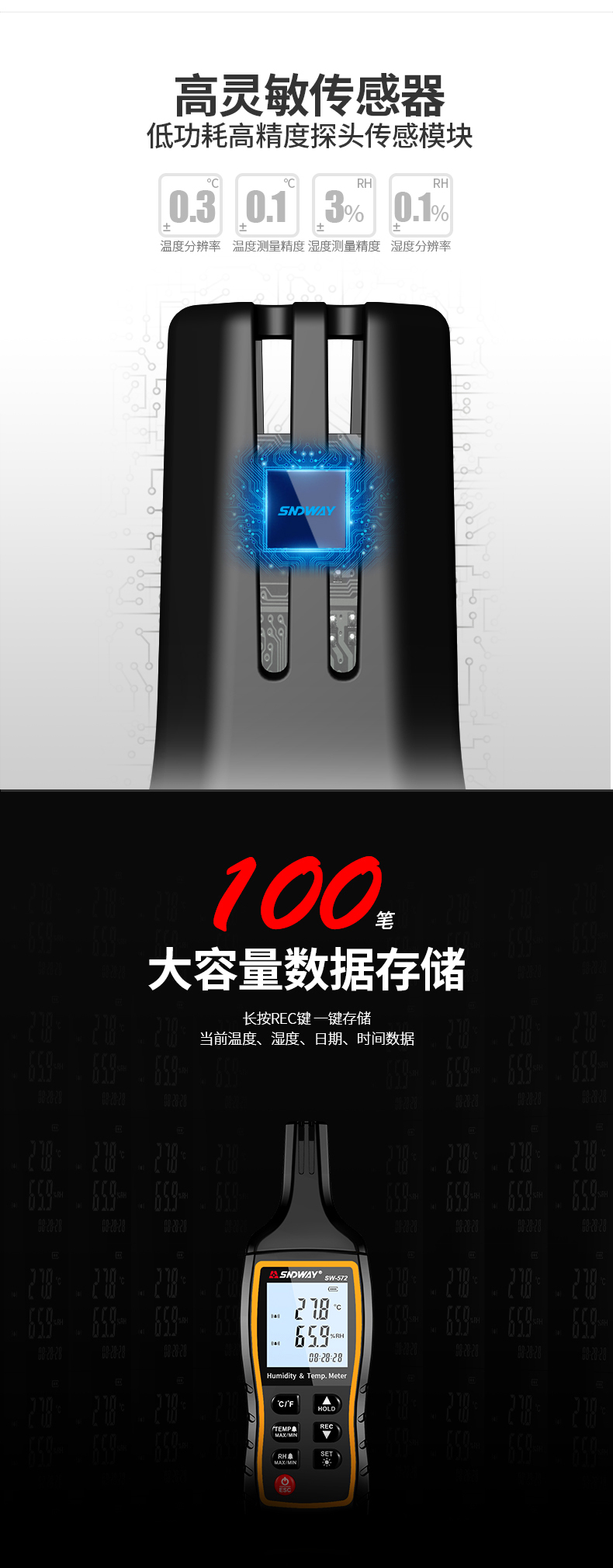 深达威温湿度计家用高精度室内外电子温度工业手持数字温湿表大棚-tmall_04