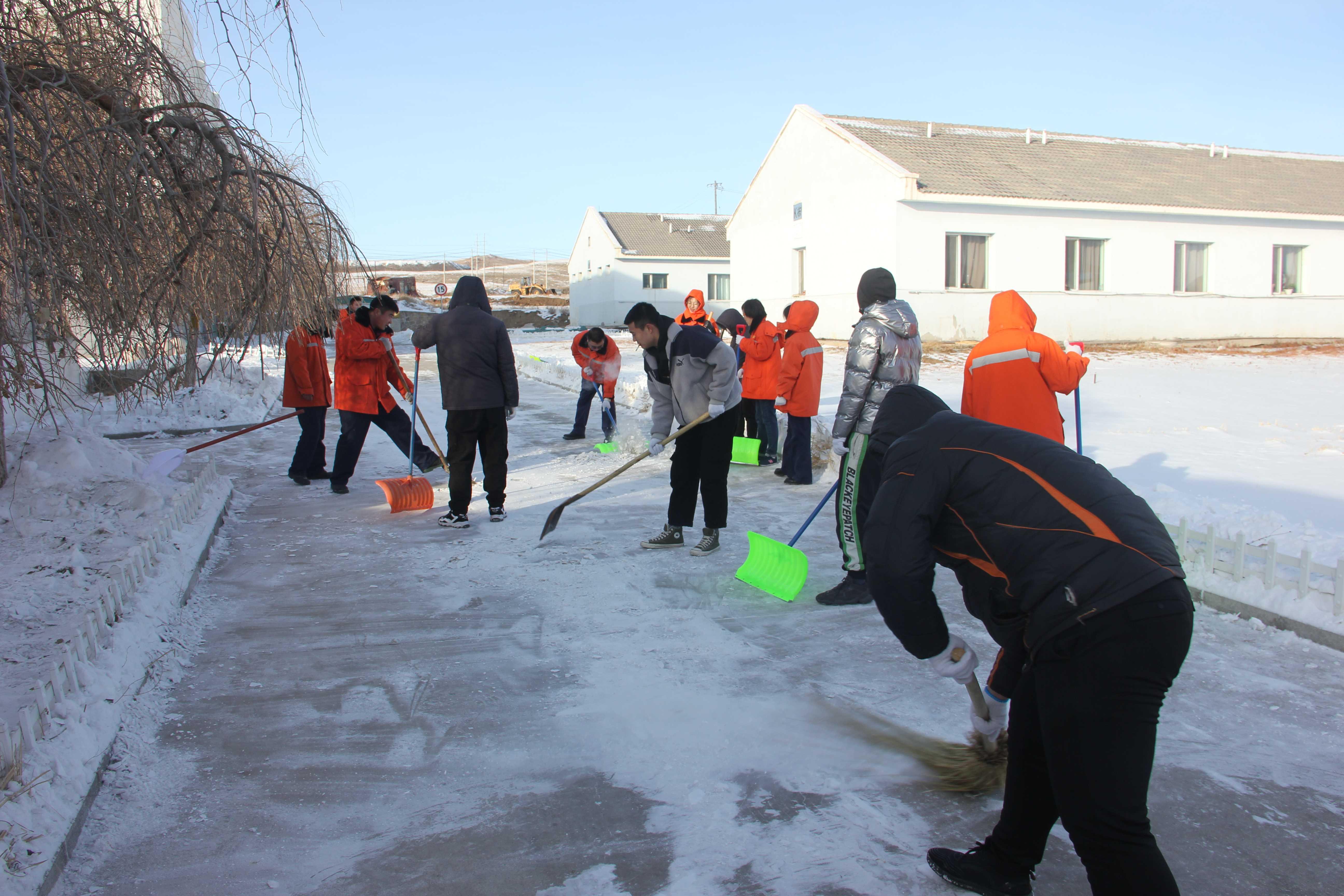黨團員做表率鏟雪除冰進行時-鏟雪除冰7