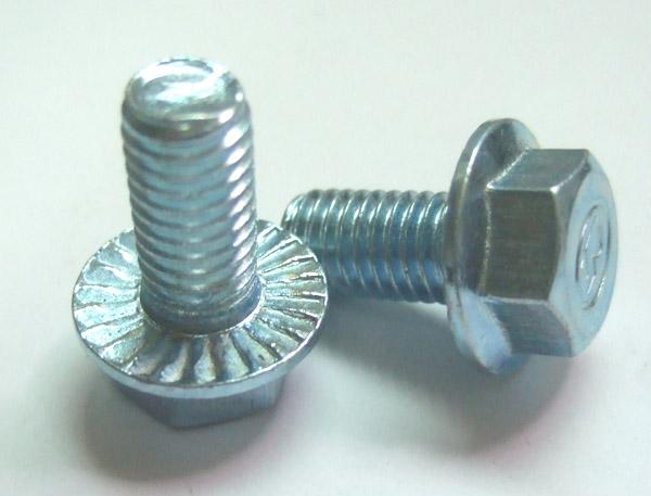 六角法兰面螺栓带齿