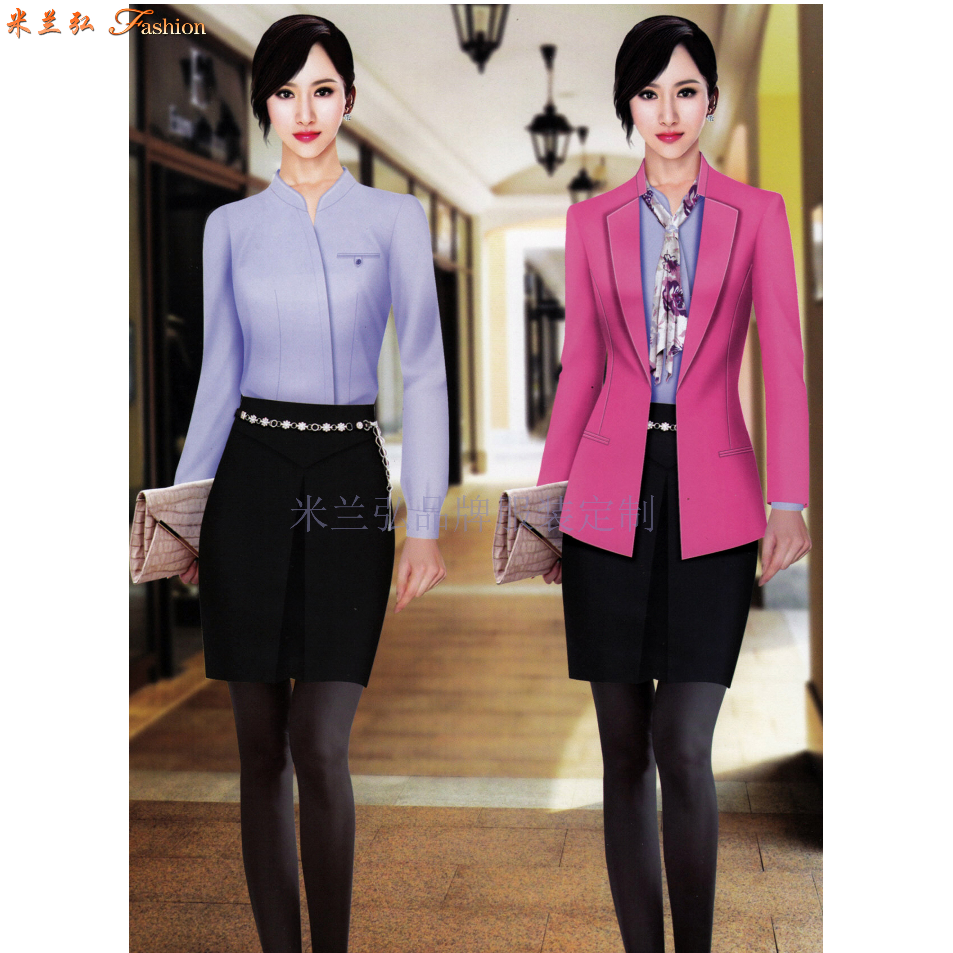 「時尚職業裝」貨真價實、式樣時髦、的服裝廠家-米蘭弘品牌-5