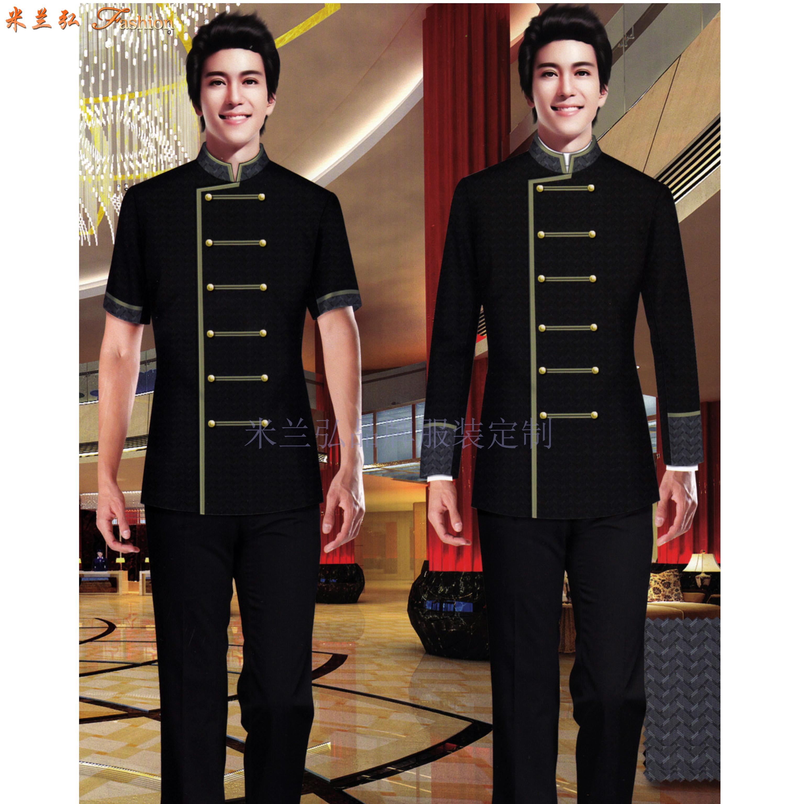 酒店門童服裝訂做 圖片_價格_參數_面料_尺寸-米蘭弘服裝-4