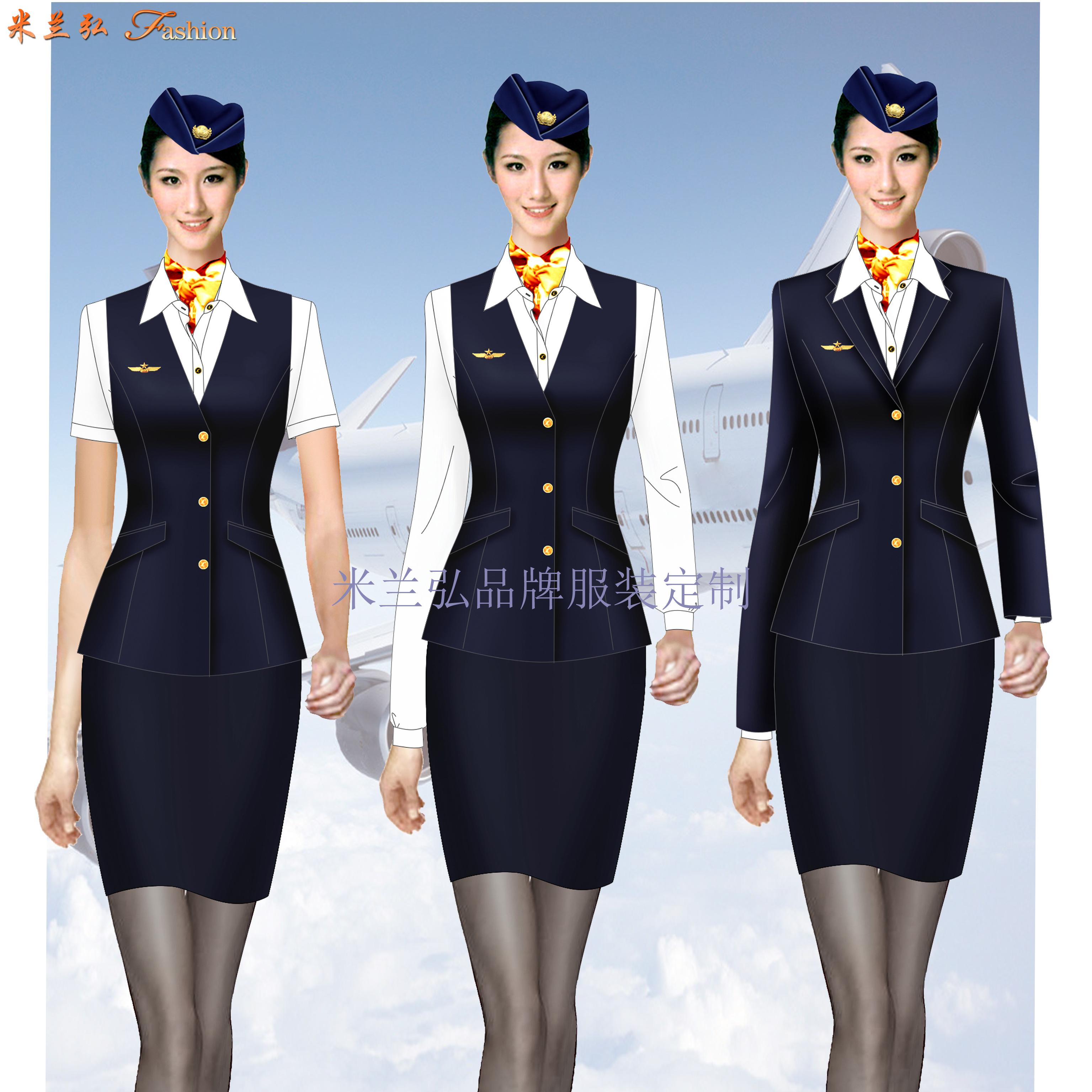 「空姐服装春秋款」贵州专业量身定制空姐服的公司-米兰弘服装-1