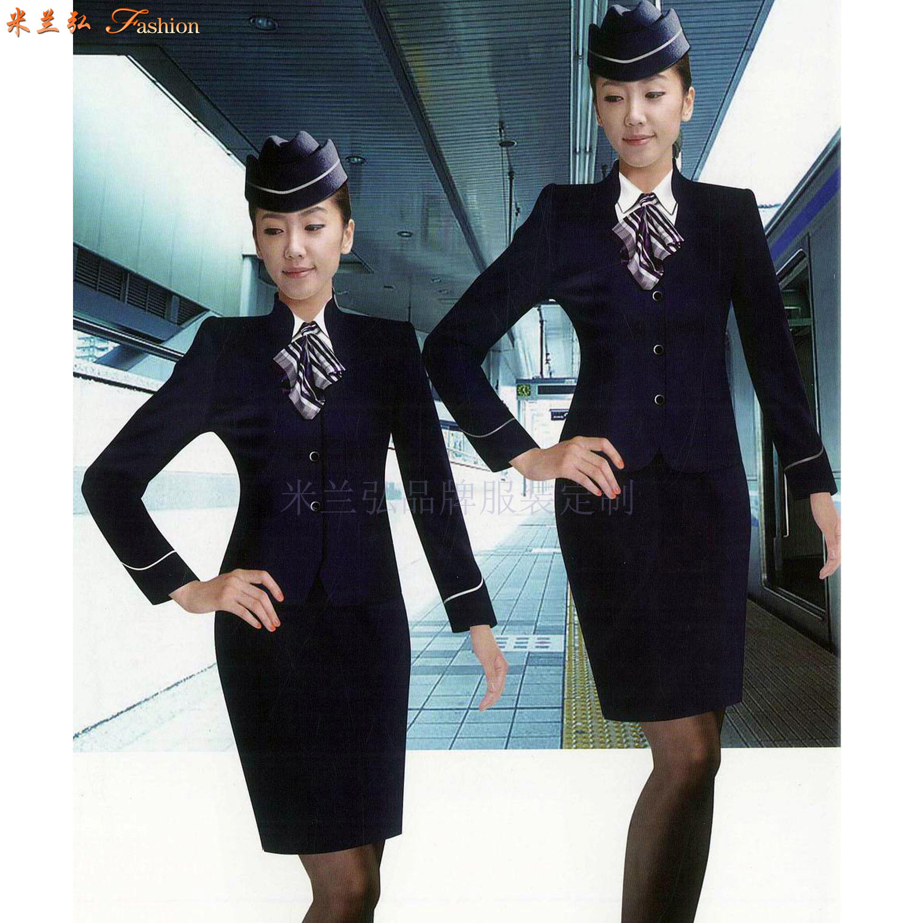 「空姐服装春秋款」贵州专业量身定制空姐服的公司-米兰弘服装-4