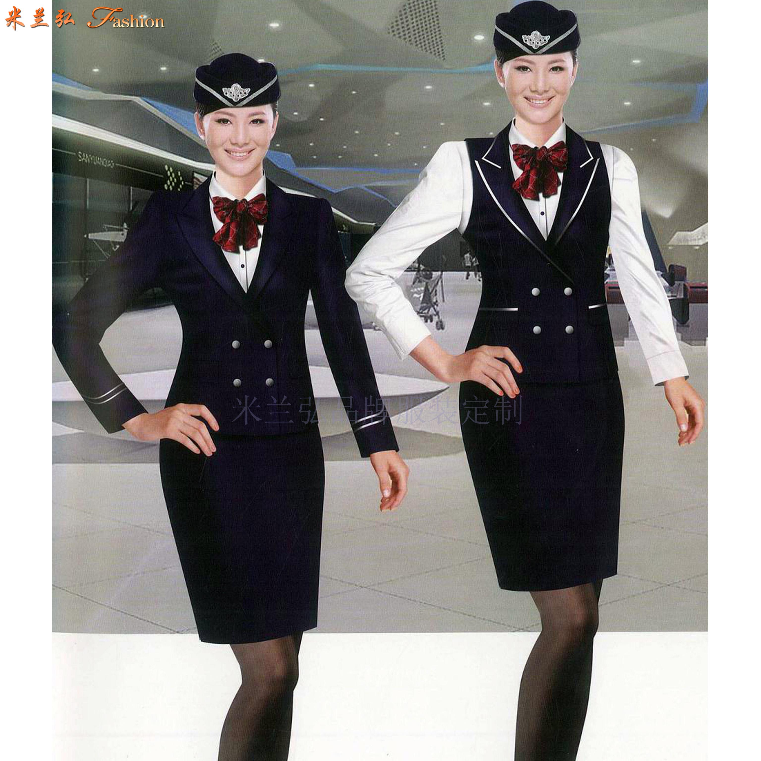 「空姐服装春秋款」贵州专业量身定制空姐服的公司-米兰弘服装-6