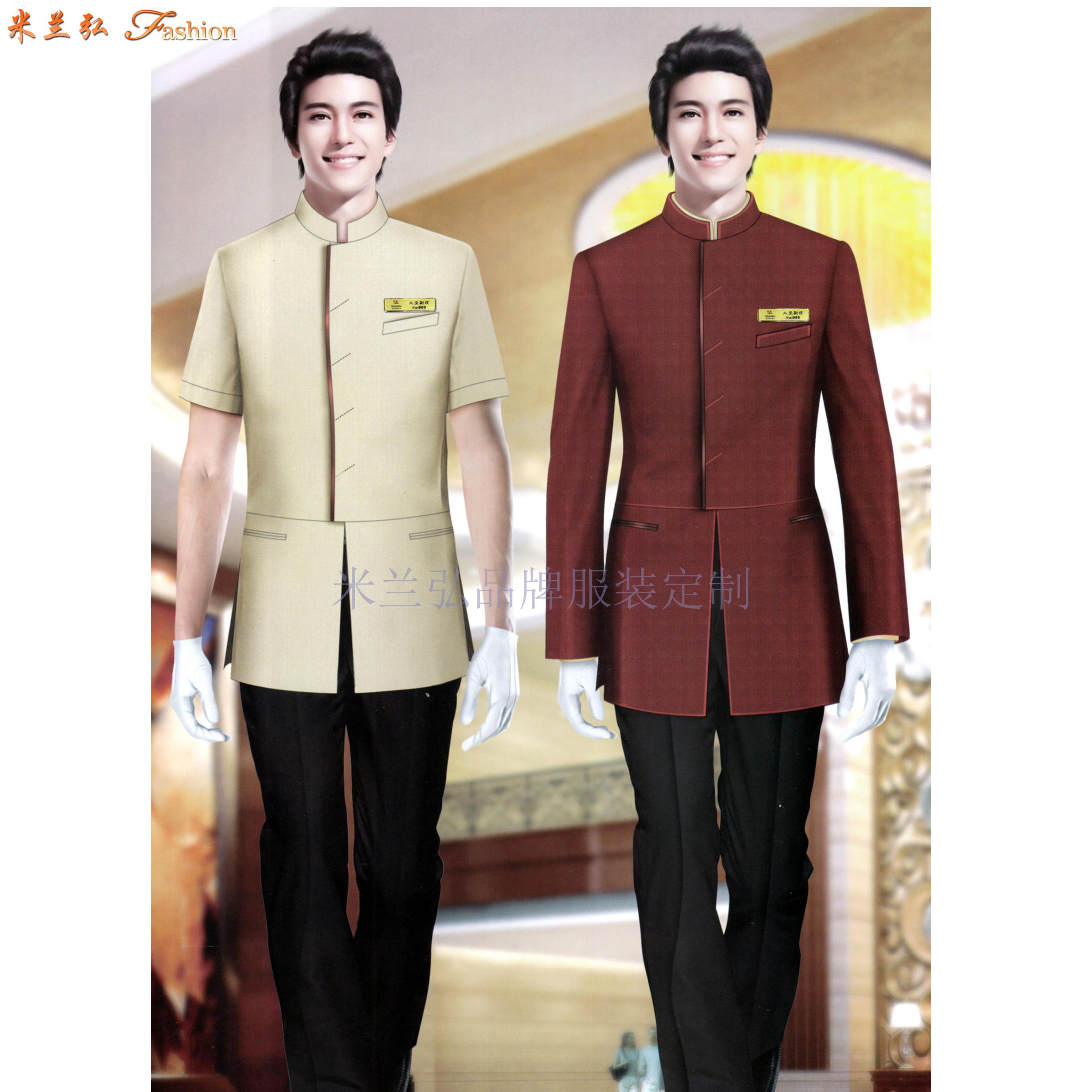 五星級酒店工服訂做-圖片_價格_參數_面料_尺寸-米蘭弘服裝-3