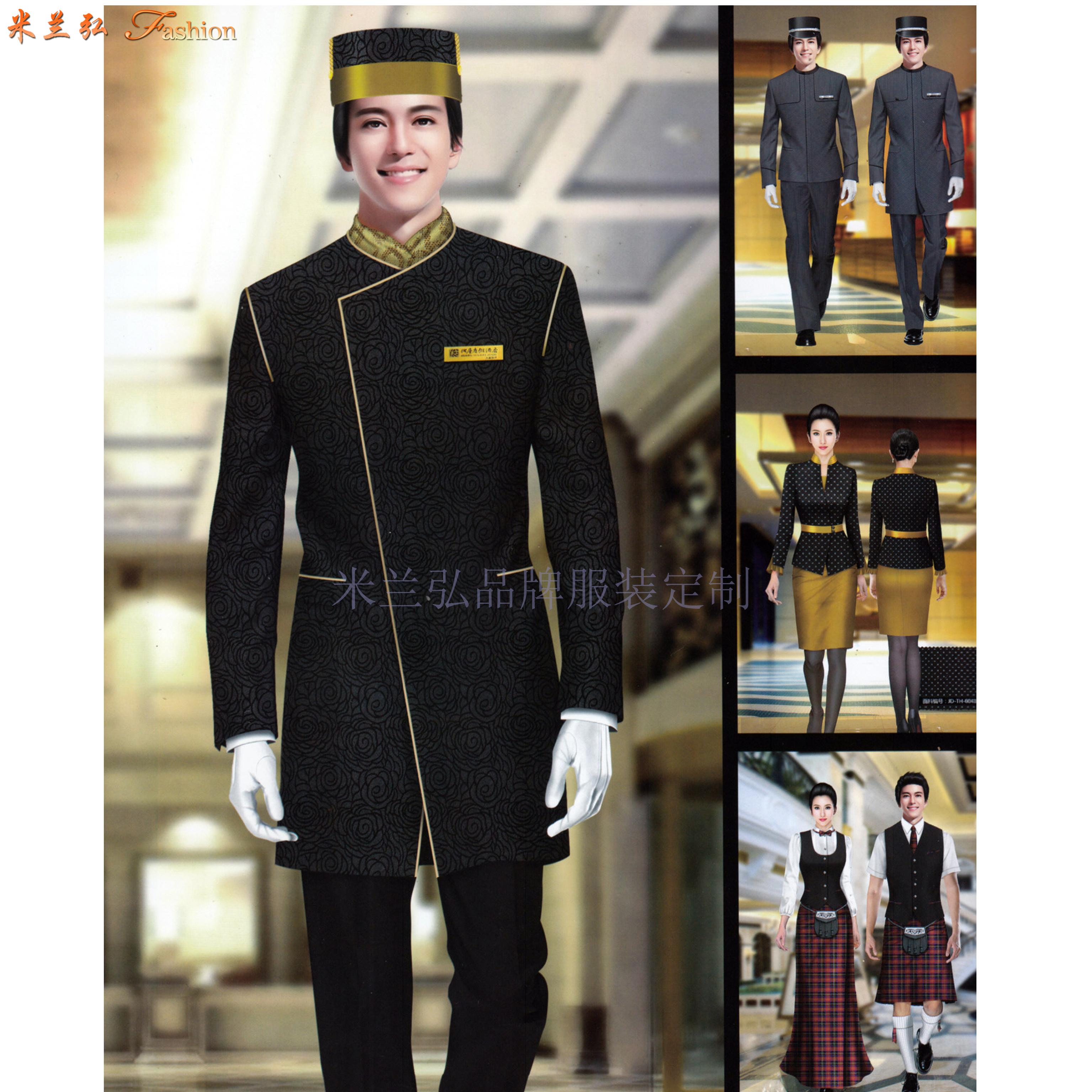 酒店會所制服定做|五星級酒店高級會所工服設計定制-米蘭弘服裝-5