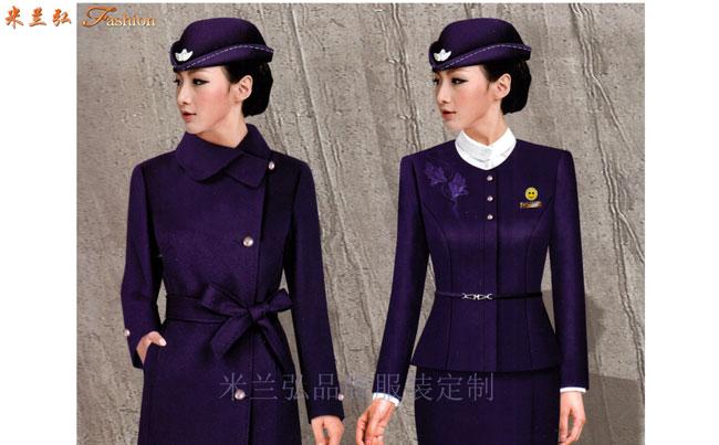 「空姐服原创设计制做」米兰弘品牌服装厂家直供优质空乘职业装-1
