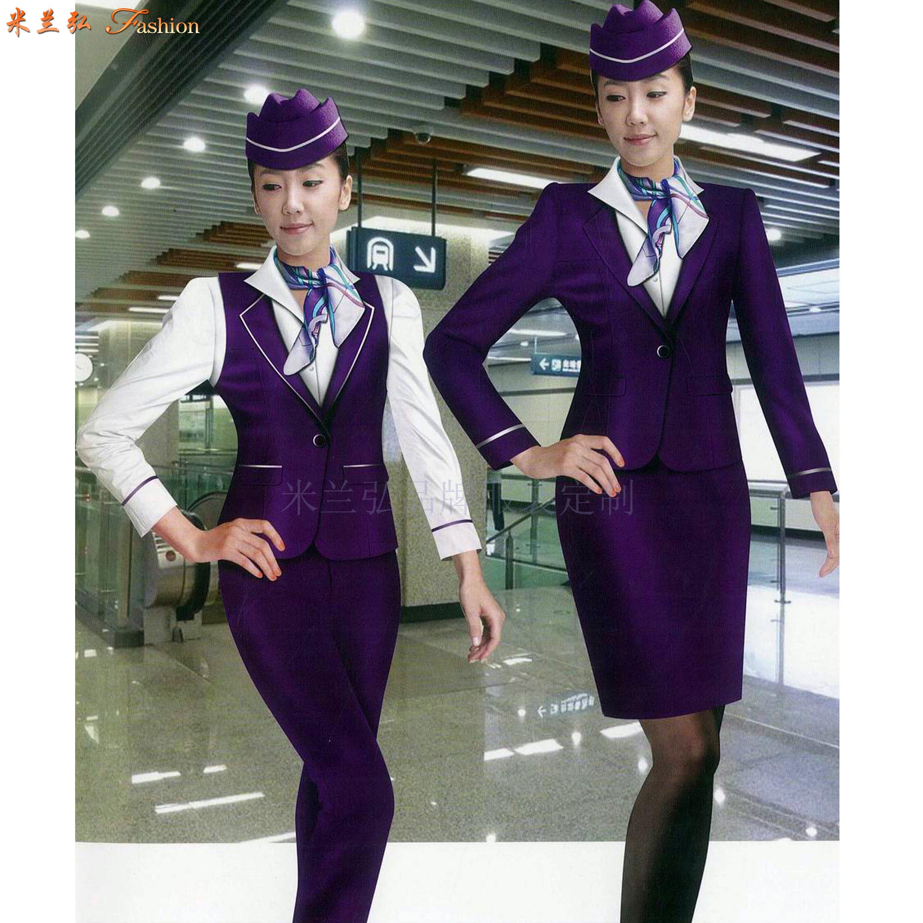 「空姐服原创设计制做」米兰弘品牌服装厂家直供优质空乘职业装-3