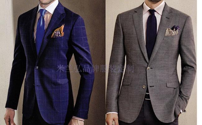 「北京西服定制圖片」男士西服搭配1外套1褲子-米蘭弘西服品牌-1