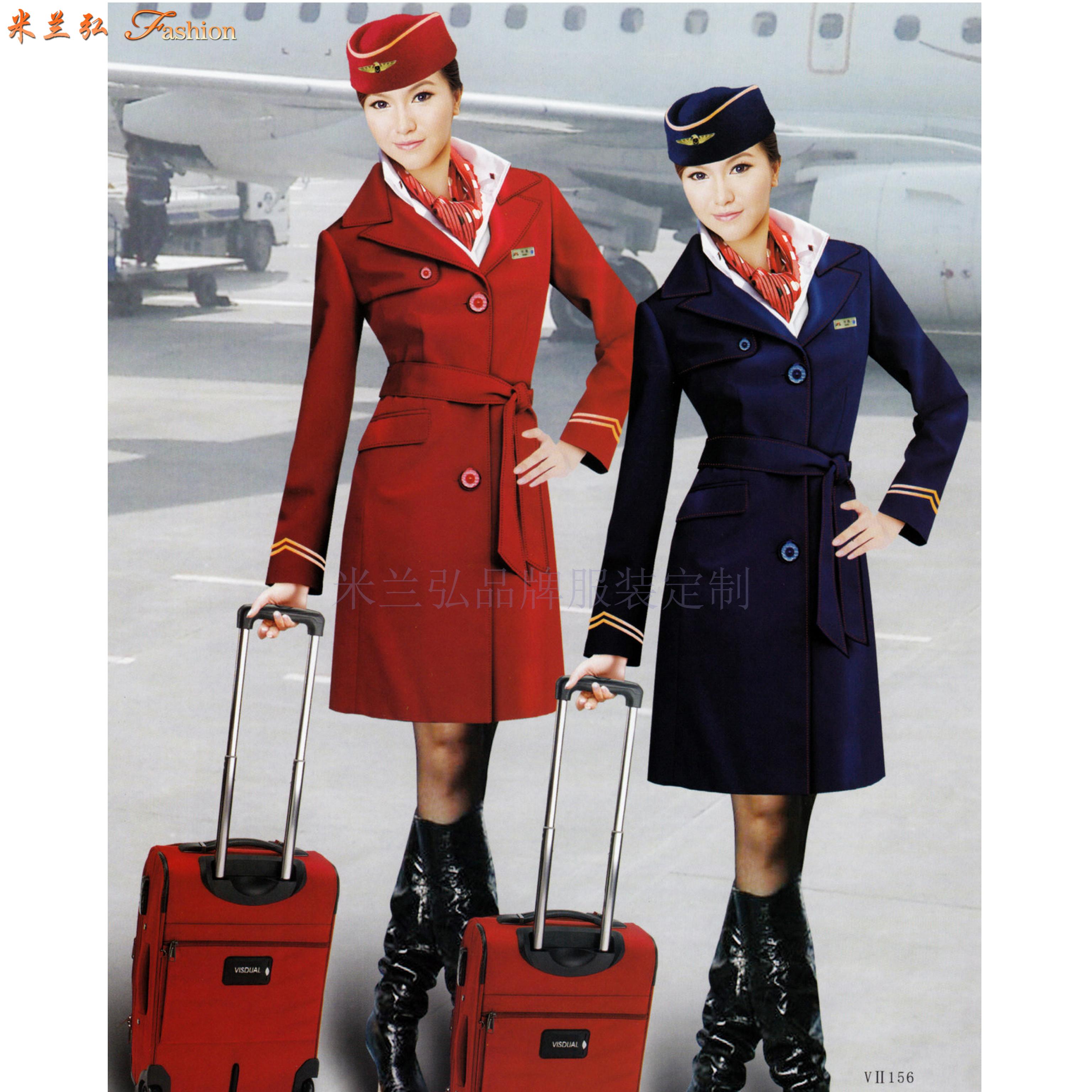 「北京空姐大衣訂制」選擇多年服裝生產經驗廠家-米蘭弘空姐服-6