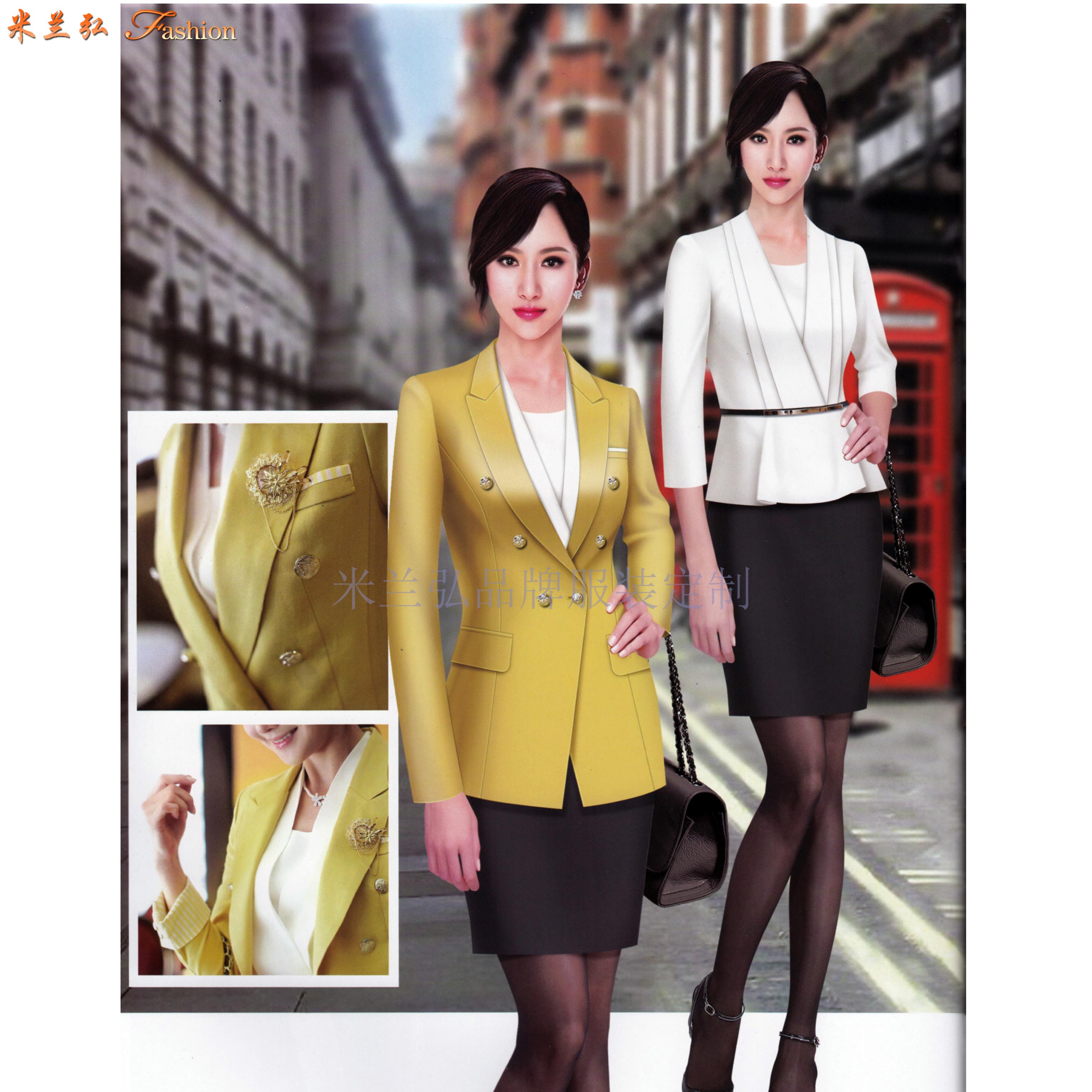 北京時尚職業裝訂制-通州城市副中心定做西服職業裝品牌-米蘭弘-5