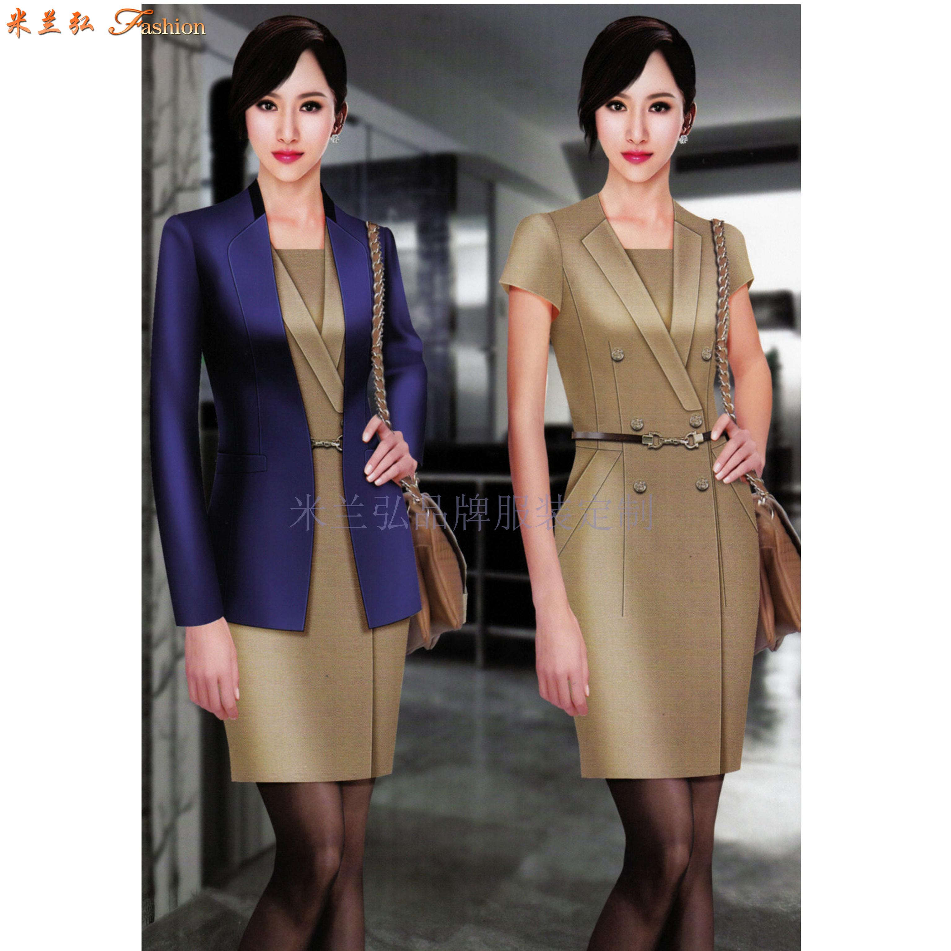 北京高端职业装定制品牌-米兰弘公司设计制作职业装新款女装图片-2